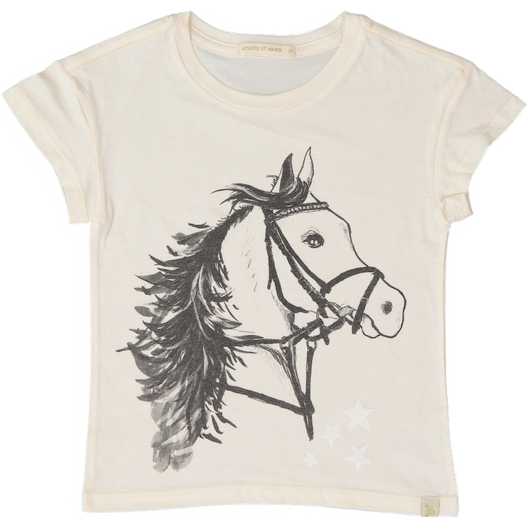 T-Shirt, CHEVAL LARA TEE, CREAM