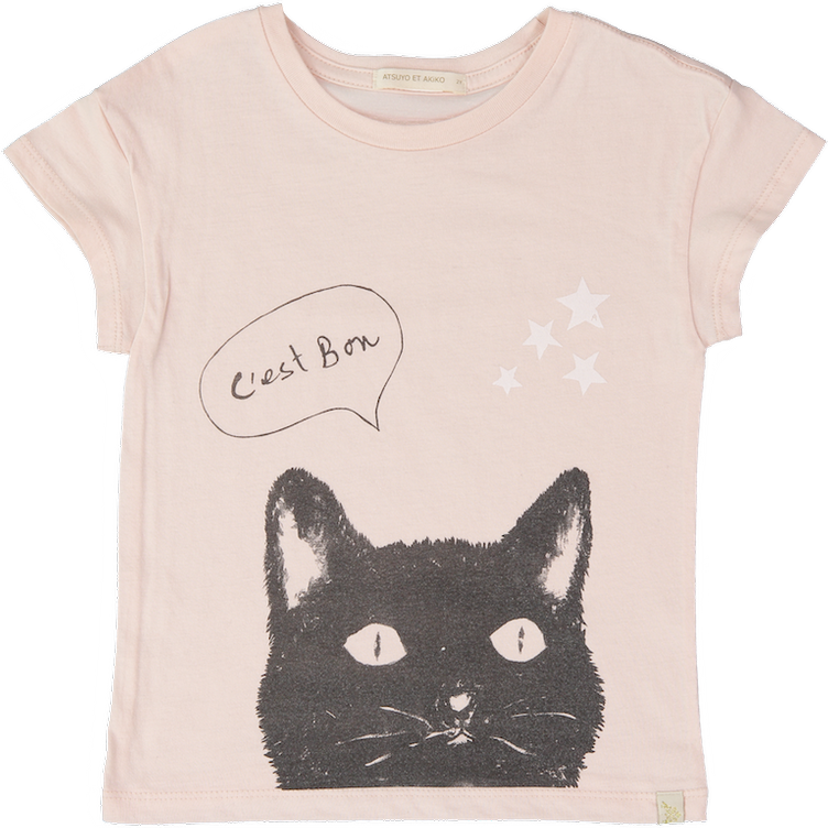 T-Shirt, LE CHAT LARA TEE, PEACH