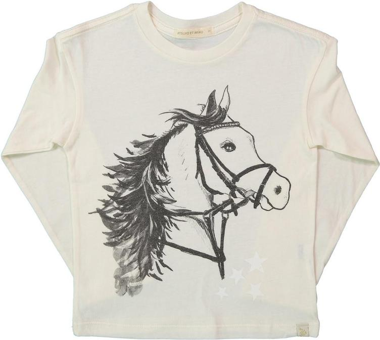 T-shirt Cheval Lara - langarm - cream