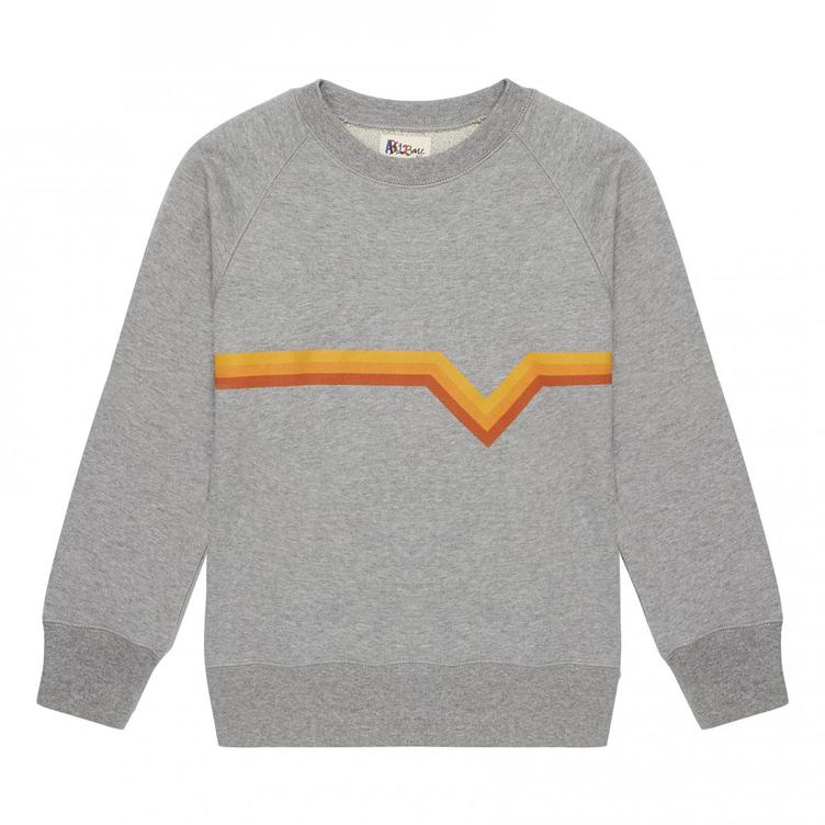 3 STRIPE SWEATSHIRT, BOLOTOWSKY, grau-orange,