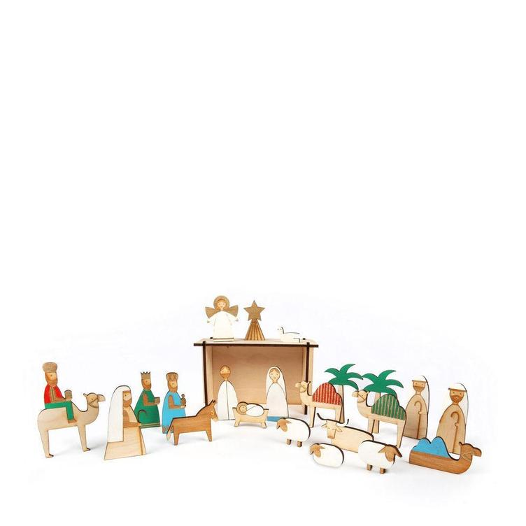 Adventskalender Wood Nativity