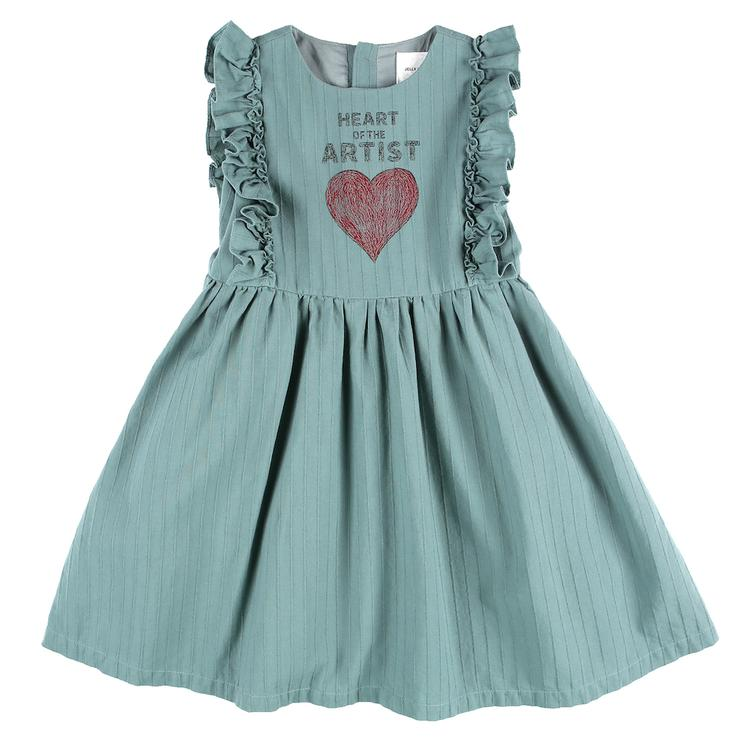 Artist Heart Dress - Green