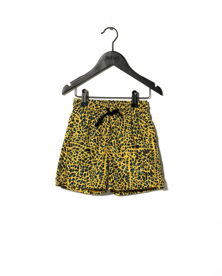 Badeshorts Splash - Leoprint Yellow