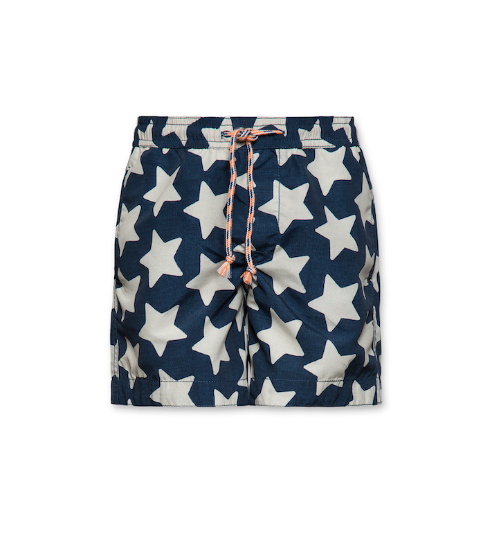 Badeshorts Stars - washed Blue