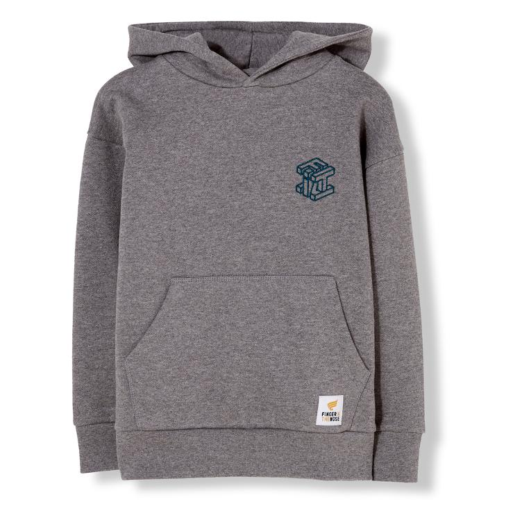 Barney Oversize Hoodie - dark heather grey