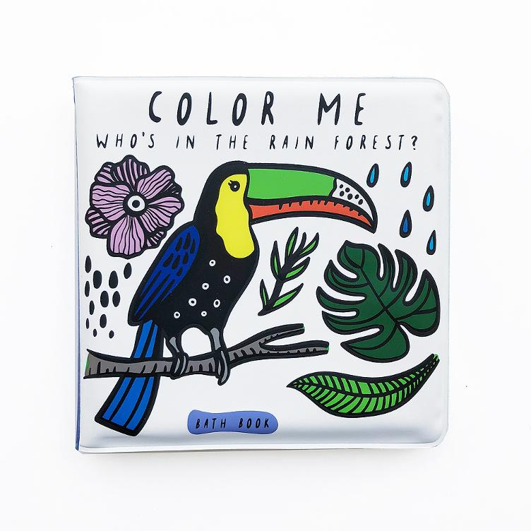 Bath Book - Colour Me Who`s in the Rainforest