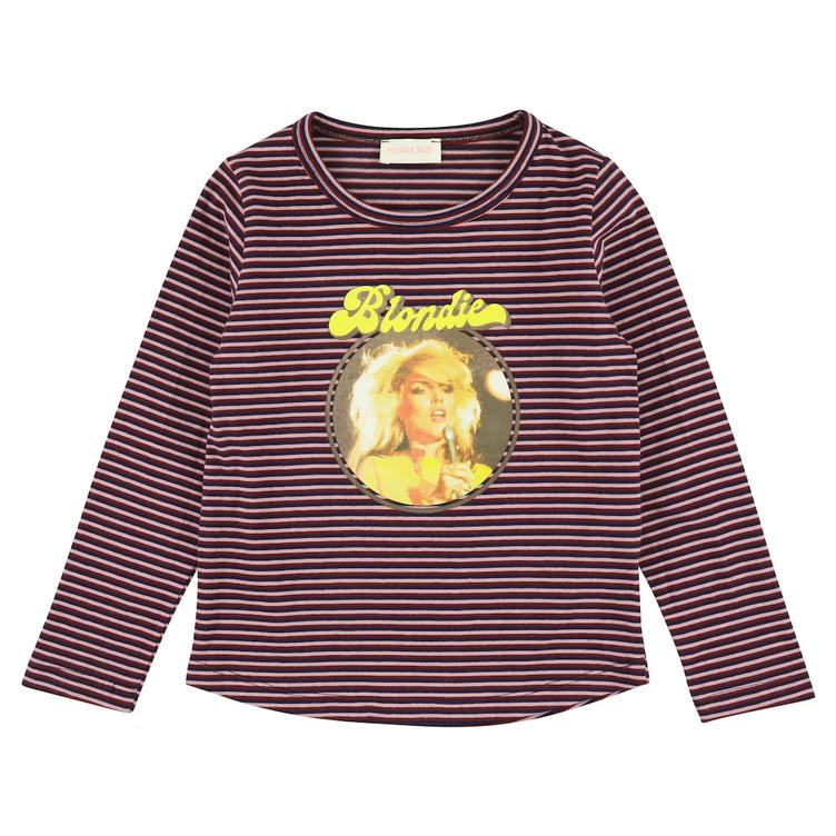 Blondie T-Shirt gestreift - plum