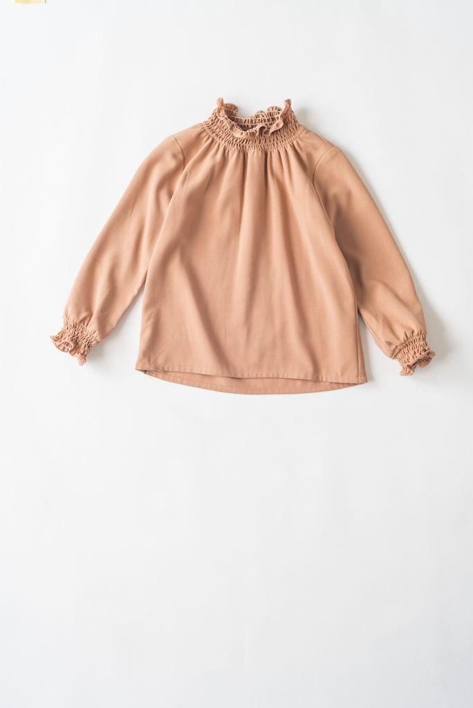 Bluse Shirring, cream