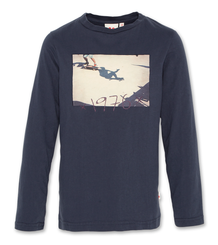 C-Neck langärmliges T-Shirt Skate - night blue