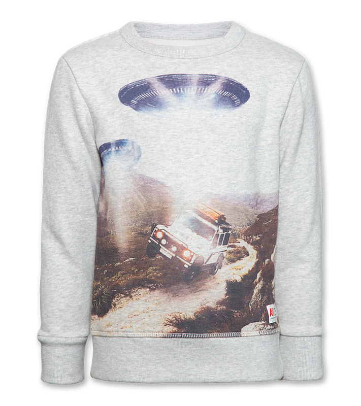C-Neck Sweater Aliens - light oxford