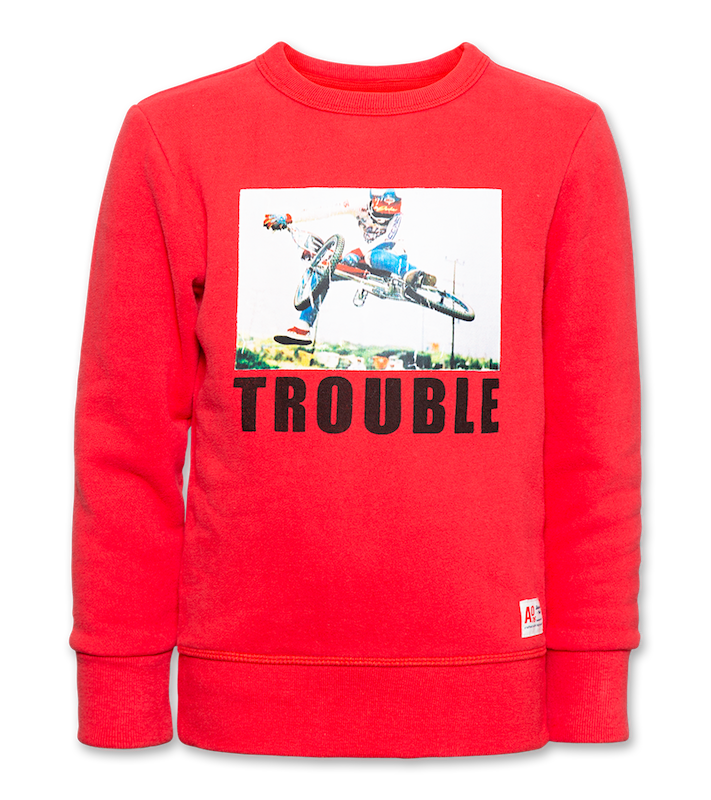 C-Neck Sweater Trouble - red