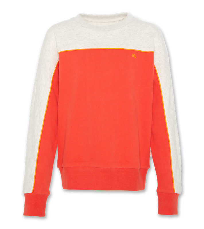 C-Neck Sweatshirt Block - red
