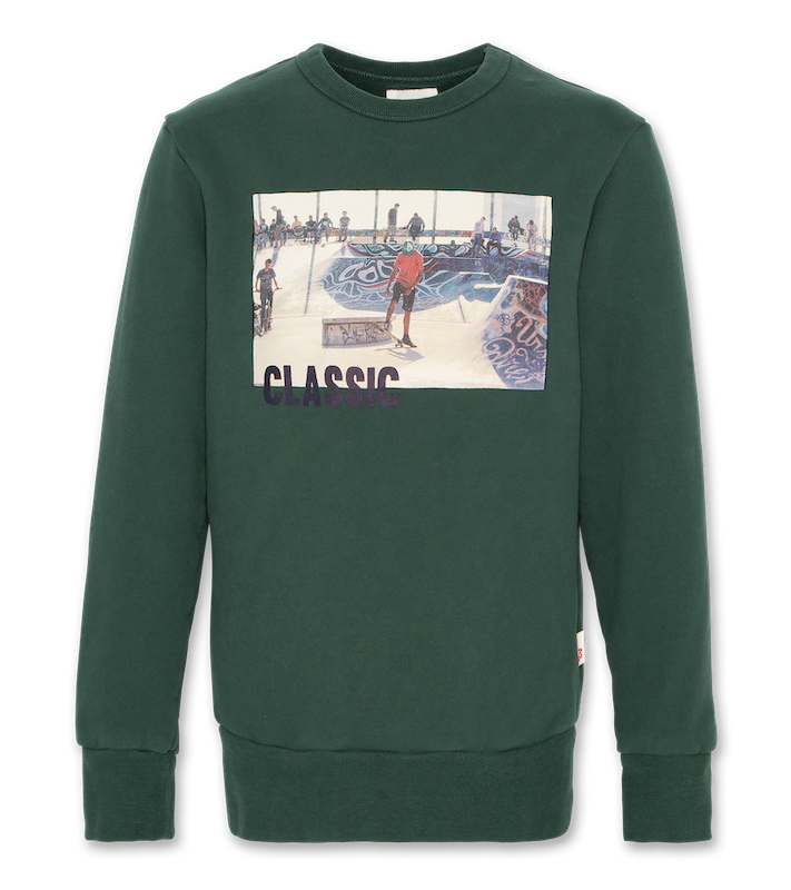 C-Neck Sweatshirt Classic - green