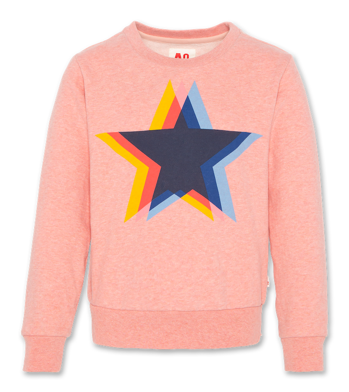 C-Neck Sweatshirt Star - grenadine
