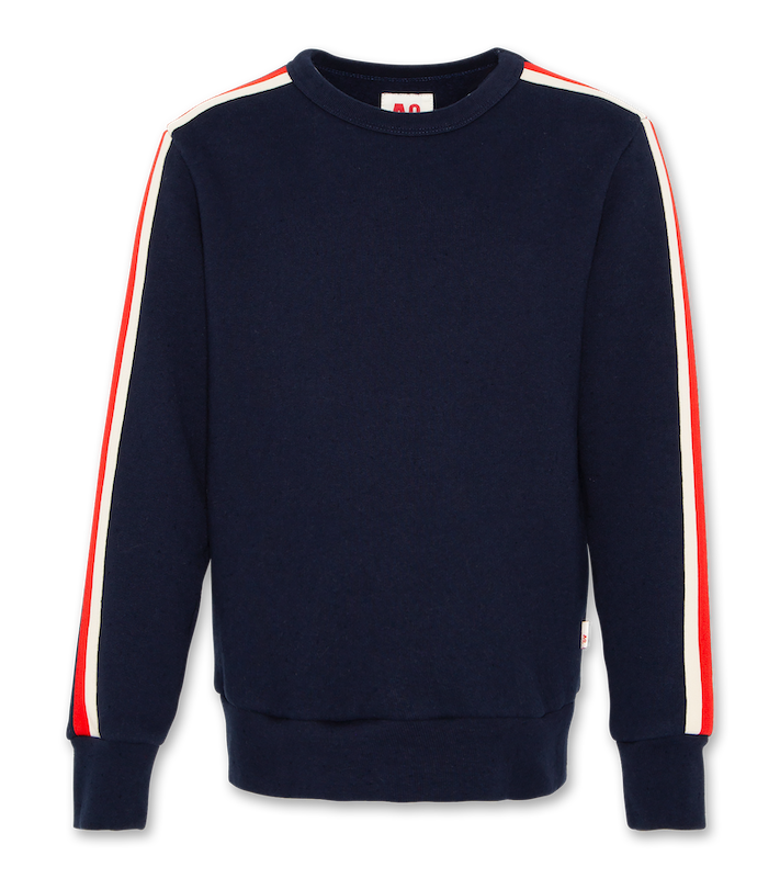 C-Neck Sweatshirt Tape - navy