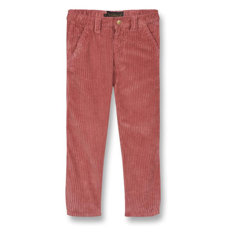 Carpenter Baggy Pants in Jumbo Cord - old pink