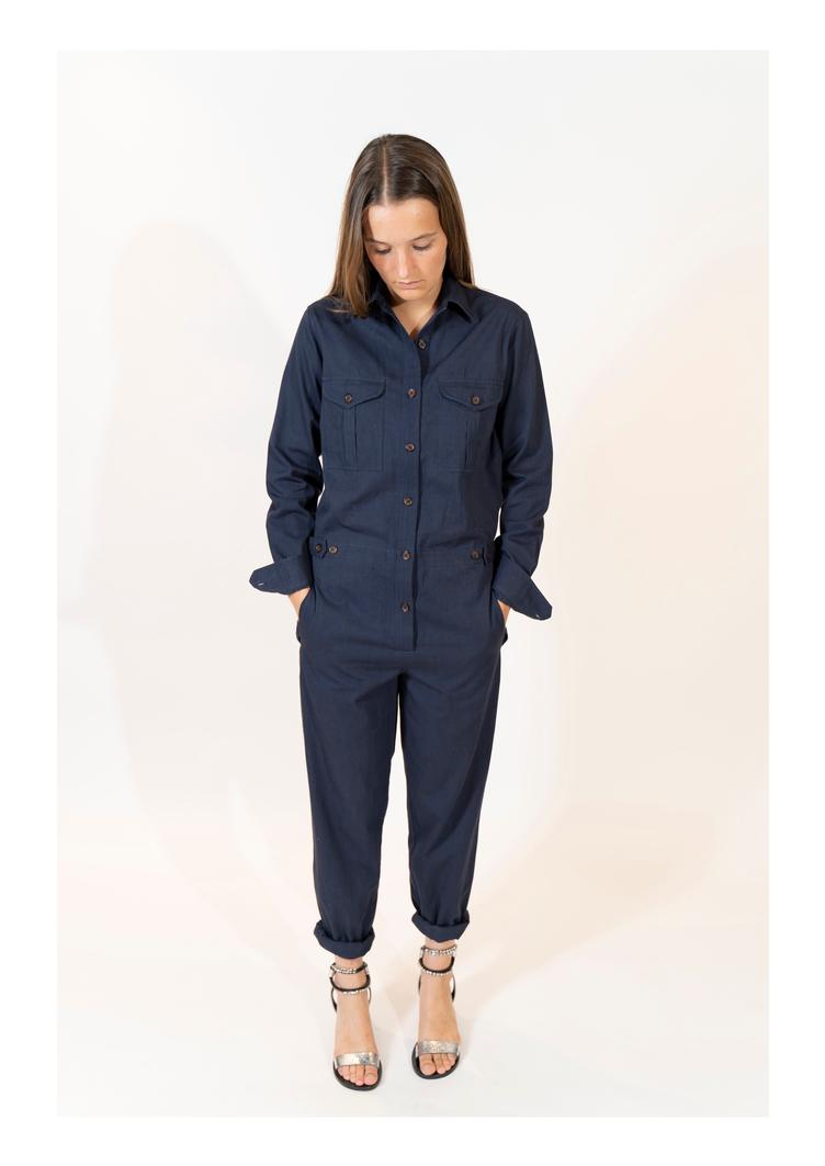 Colombia Twill Jumpsuit - Nuit
