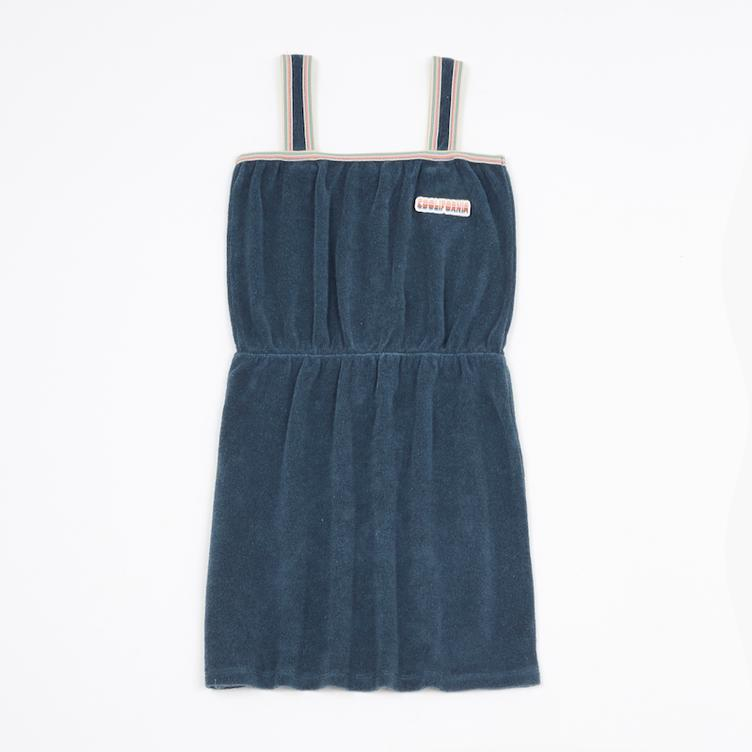 Coolifornia Frottee Kleid - Marled Blue