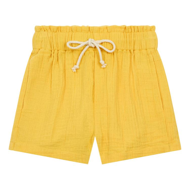 Cotton Gauze Shorts - Sunflower Yellow