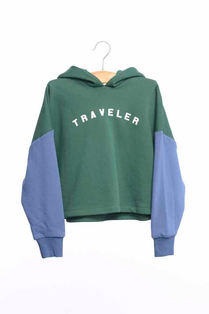 Cropped Hoodie - Forest Traveller