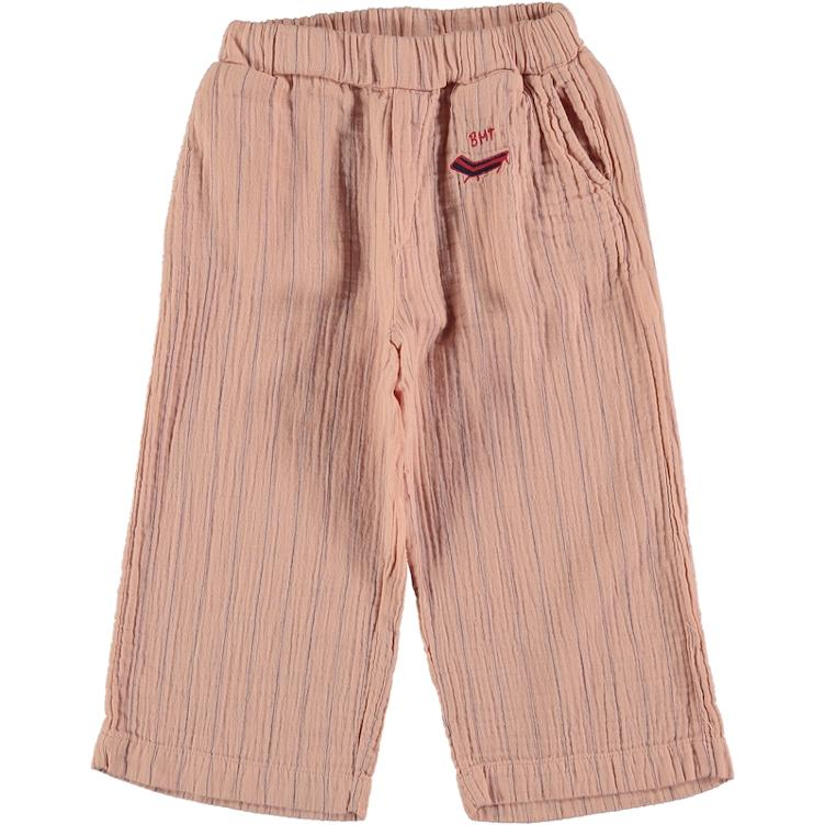 Culotte Stripes Palm - dusty pink
