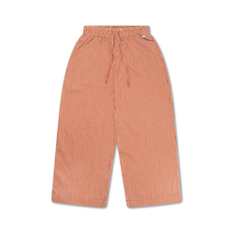 Easy Pants - copper check