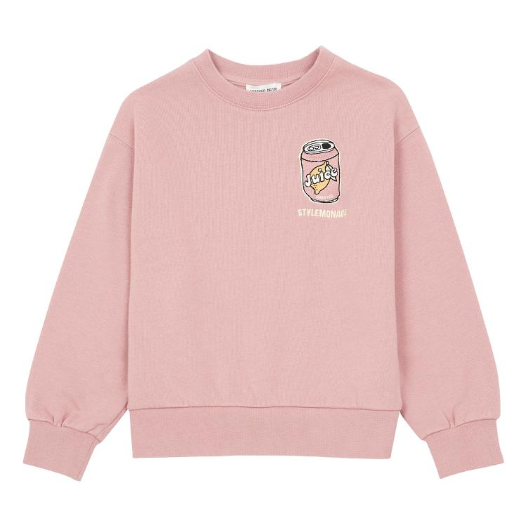 Embroidered Sweatshirt - dusty pink