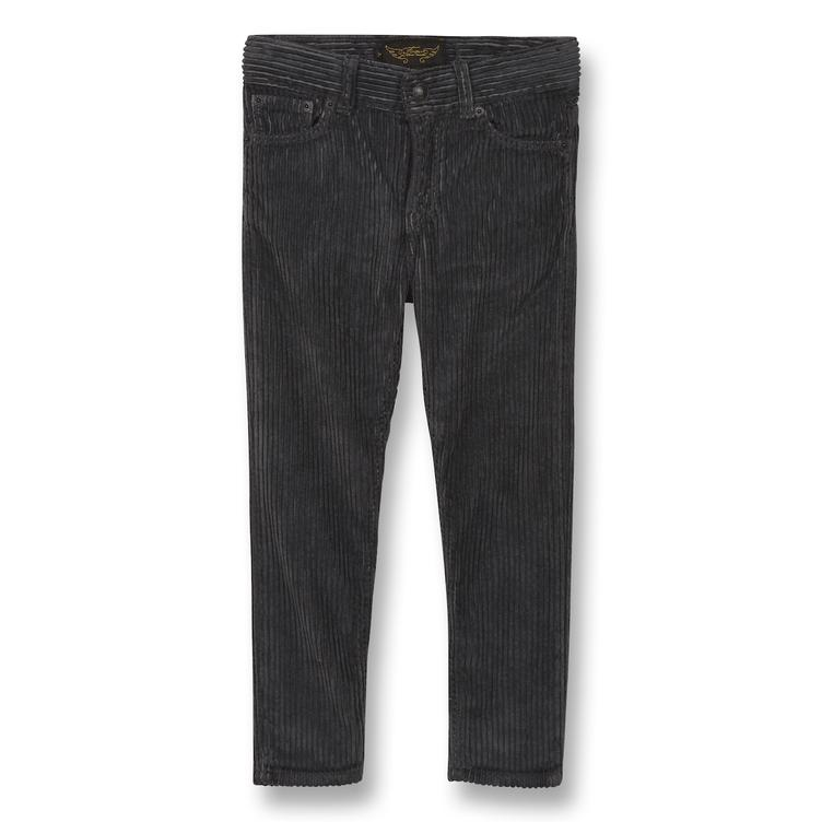 Ewan Comfort Fit Pants in Jumbo Cord - grey