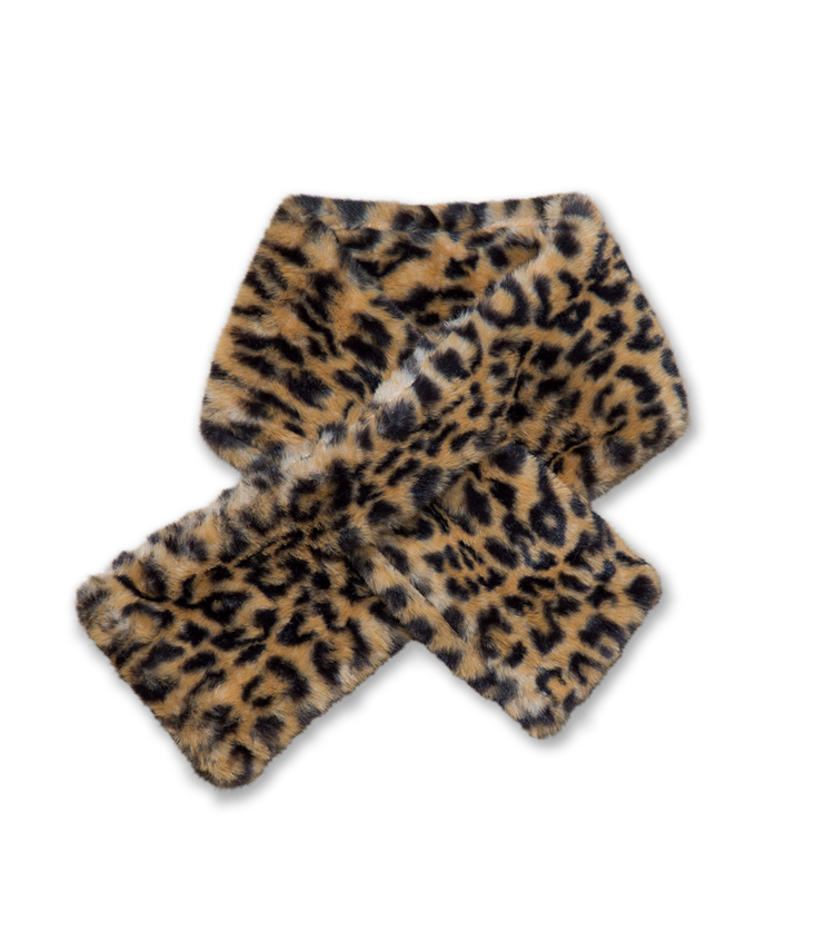 Fake Fur Schal - Leoprint