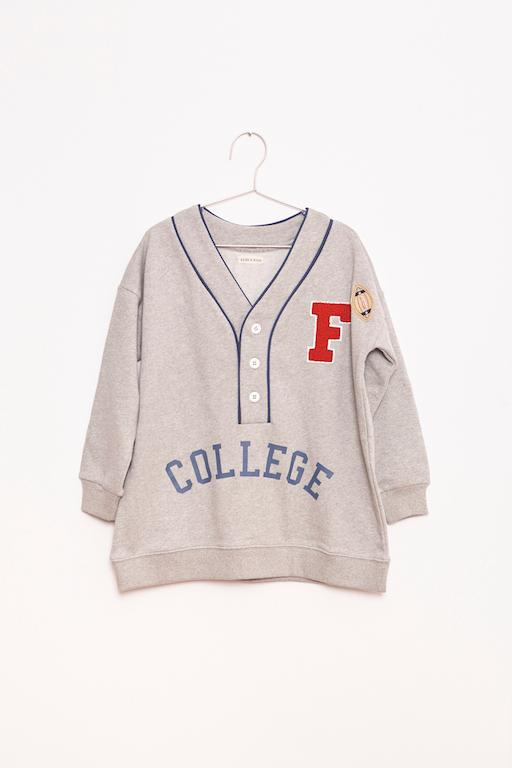 Sweatshirt College oversize - Grey
