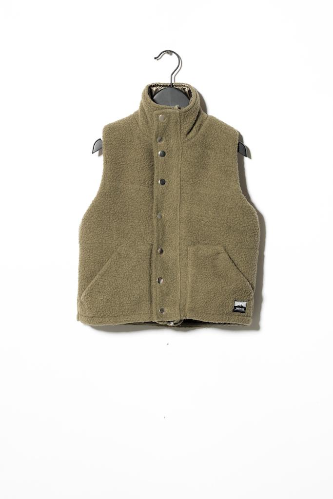 Fleece Gilet Hybrid - Green
