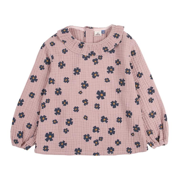 Flower Frill Bluse - pink