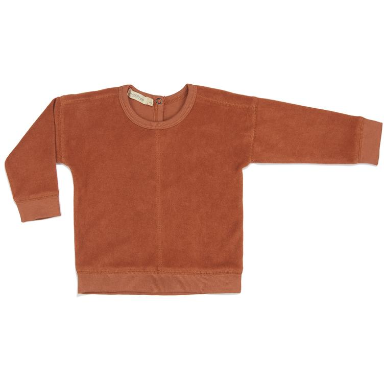Frottee Sweater - Burnt Clay