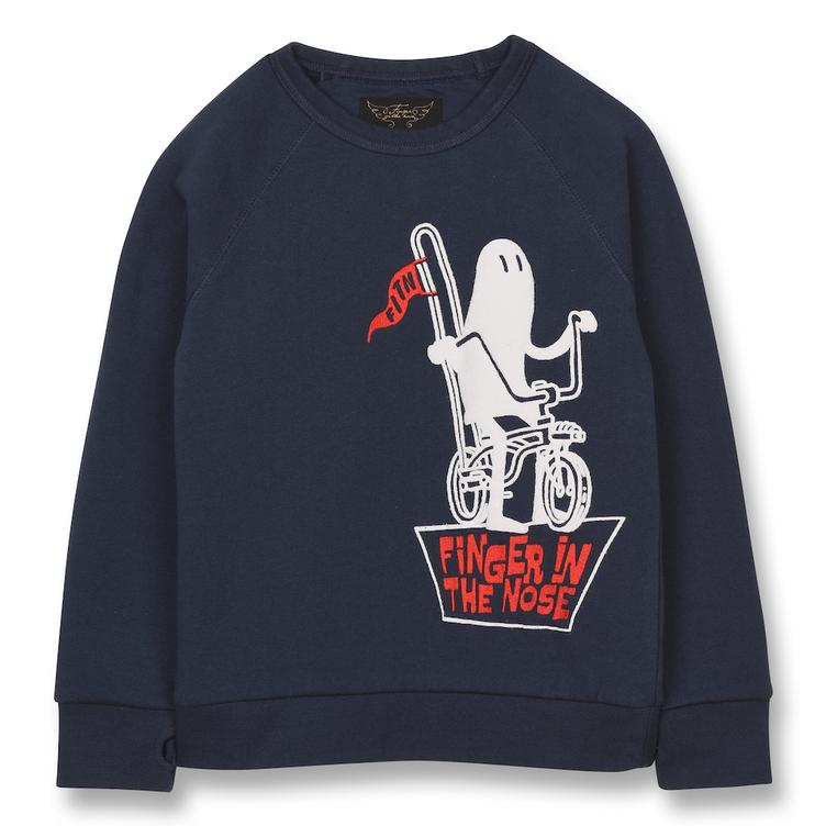 Hank Ghost Rider Crew Neck Sweatshirt - Sailor Blue