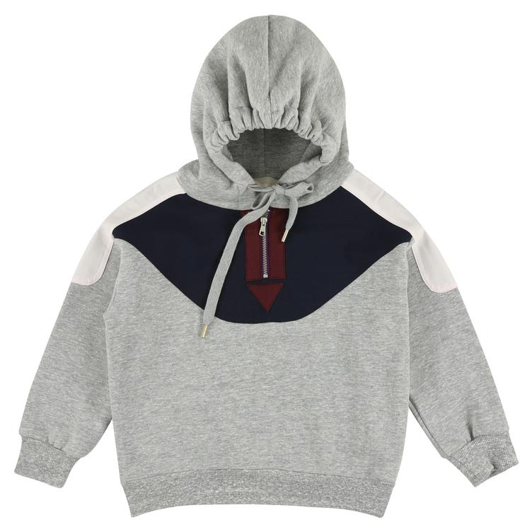Hoodie Sweater - flanelle/ navy