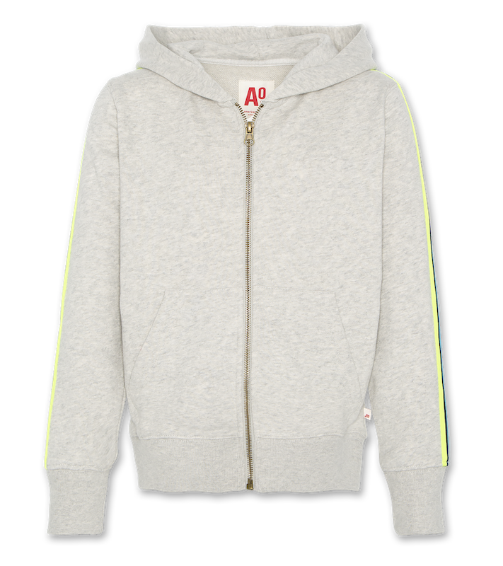 Hoodie Tape mit Zip - light oxford