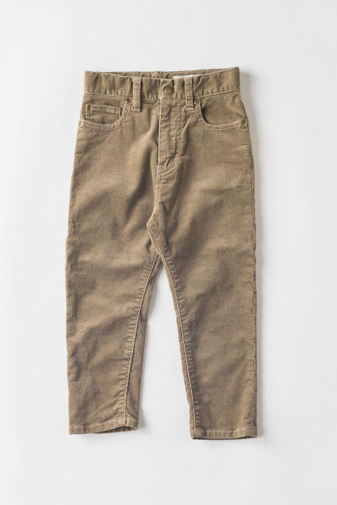 Hose, Highrise Tapered Denim, beige