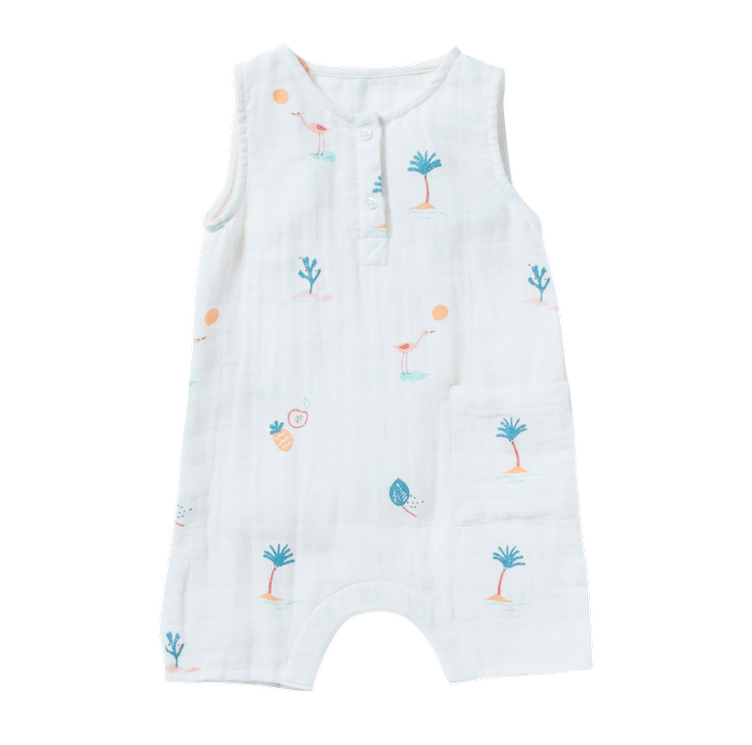 Jumpsuit Pahoa mit Stickerei - White