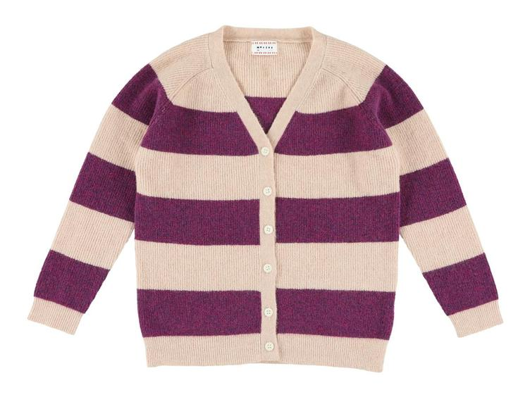 Kirsten Cardigan gestreift - Calm Rose/Orchid