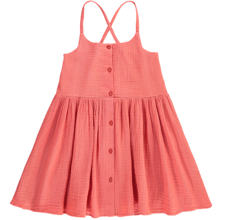 Kleid Cotton Gauze - Coral