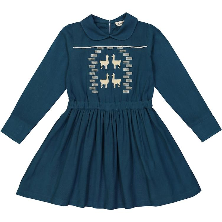 Kleid Olympia, Lama ink blue