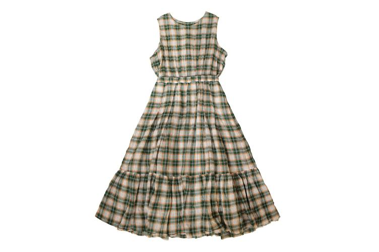 Kleid P004 - Green Check