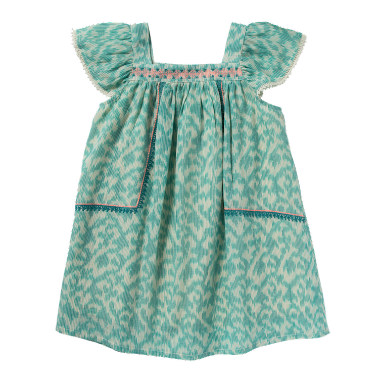 Kleid Patty - Ikat Green