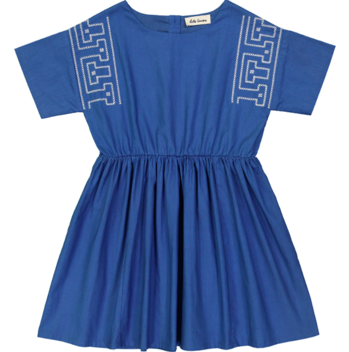 Kleid Thao, greque blue