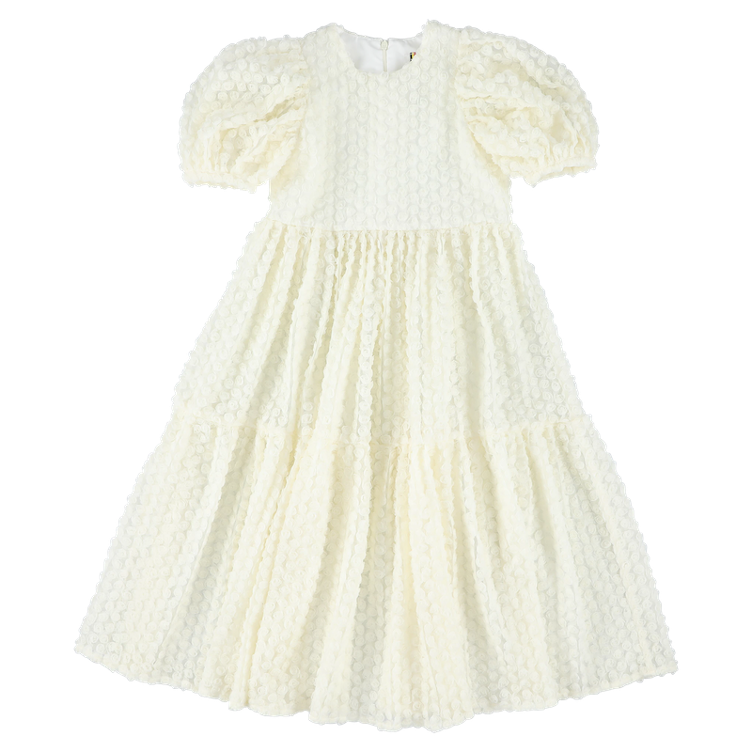 Langes Kleid Rose Off-white