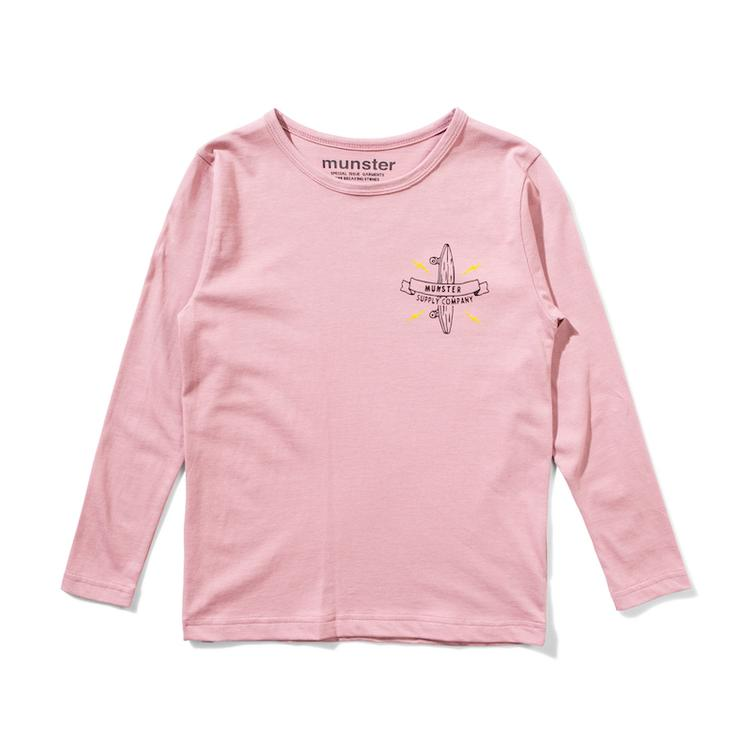 Logo Bolt T-Shirt langärmlig - Dusty Pink