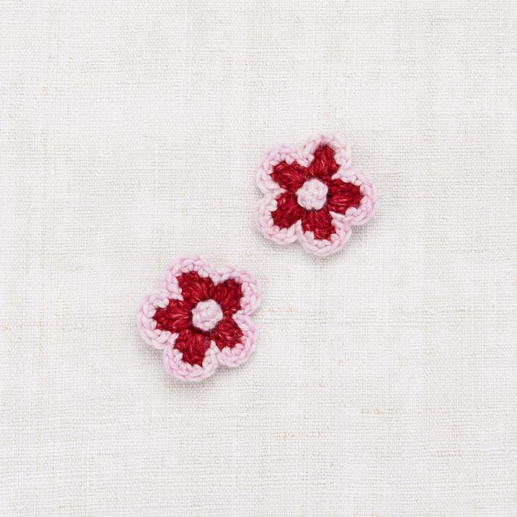 Medium Flower Clip Set - Berry/Lilac
