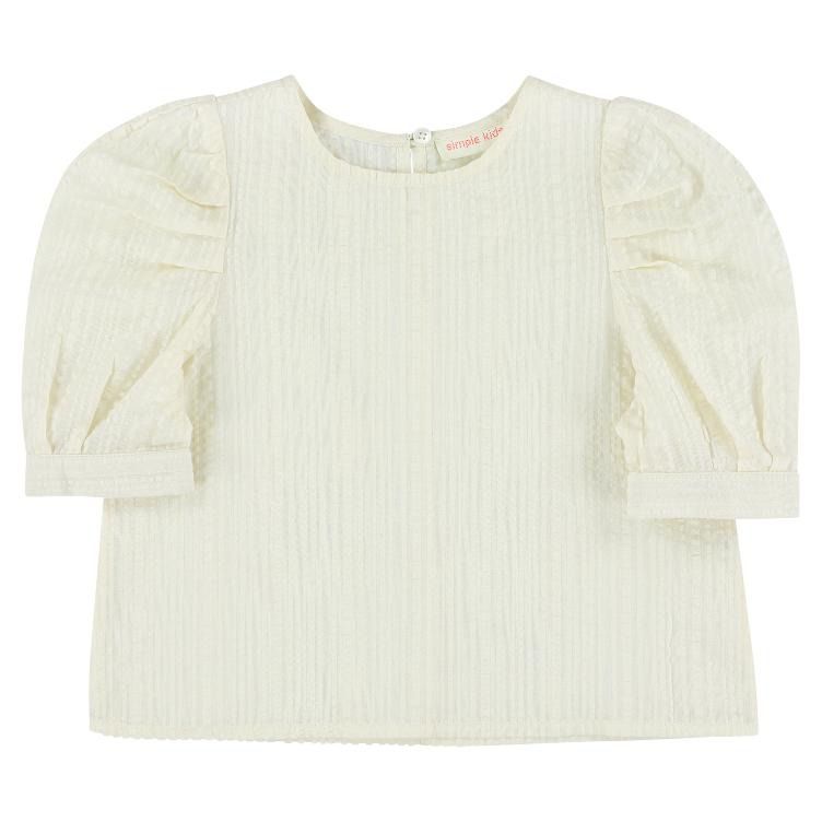 Midge Seersucker Top - white