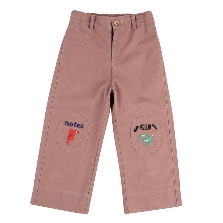 Notes Cotton Ankle Pants - Red Bean