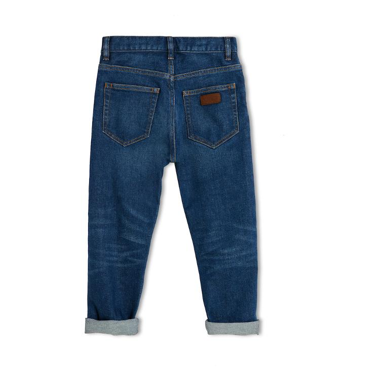 Ollibis 5 Pocket unisex Jeans, Tapered Fit - denim blue - 1